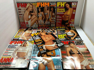 FHM MAGAZINE 10 ISSUES #8 thru #17 – ALL of the YEAR 2001 – LIKE NEW