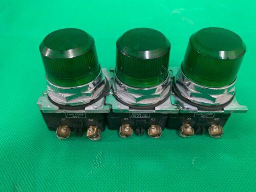 lot of 3 Cutler Hammer 10250T 120 V Resistor Lamp 120MB Green