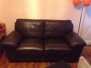 Chocolate brown leather 2 seater couch Randwick Eastern Suburbs Preview