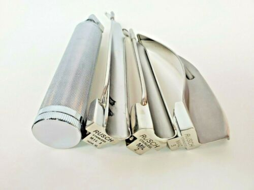 INTUBATION KIT LARYNGOSCOPE RUSCH Blades MIL 2 & 3 & MAC 3
