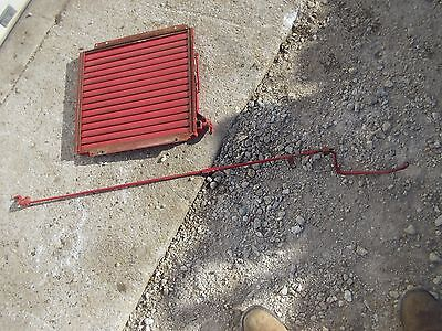 Farmall B Bn Tractor Complete Working Original Radiator Shutter Assembly W Rod