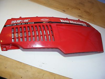 Yard Machine MTD Riding Lawn Tractor RED RIGHT SIDE ENGINE COVER HOOD 731-1536 (Red Riding Hood Zubehör)
