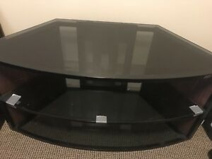 """Glass tv stand to fit up to a 55"""" tv for $100"""