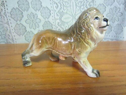 Vintage Brown LION FIGURINE~Salt or Pepper Shaker~ONE SHAKER~CORK STOPPER~Japan