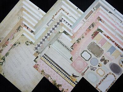 12X12 Scrapbook Paper Cardstock Sweet Ambrosia Vintage Ephemera Floral Moms 24 Cardstock 12x12 Scrapbook Paper