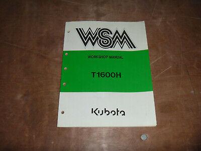 Kubota T1600h Lawn Garden Tractor Shop Service Repair Manual
