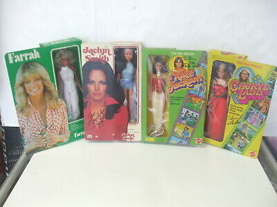 """Charlie's Angels Hand Signed 12"""" Dolls in Box Lot Farrah- Smith - Ladd & Jackson"""