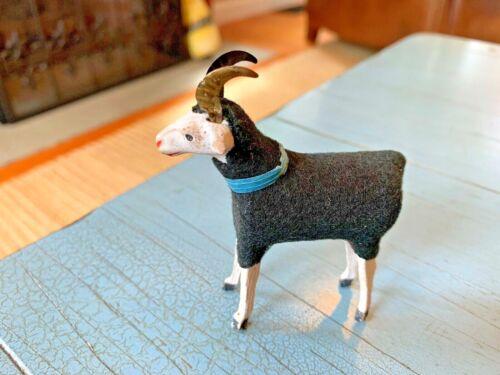 Rare Black Putz Ram Sheep Stick Leg Germany German Antique Nativity Toy