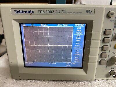 Tektronix Tds2002 Oscilloscope Portable 60mhz 2channel- Good Condition