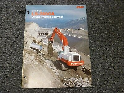 Link-belt Ls-7400a Crawler Excavator Specifications Lifting Capacities Manual
