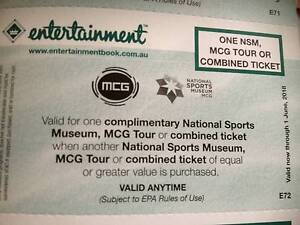 National sports museum tickets buy one get one free St Kilda Port Phillip Preview