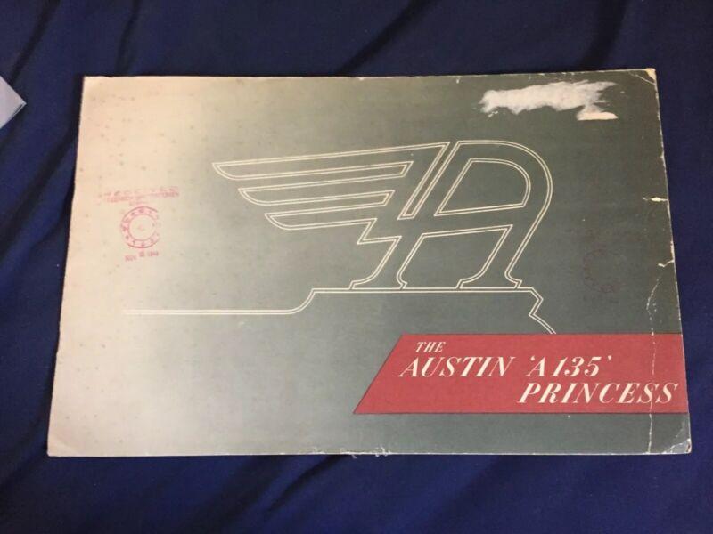 1950s BMC Austin A135 Princess Large Color Original Brochure Catalogue Prospekt