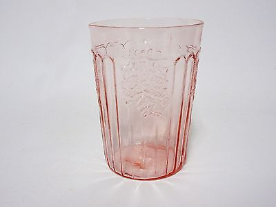 """Vintage Pink Mayfair 4"""" Flat Tumbler / 7 Available / Hocking Glass Co"""