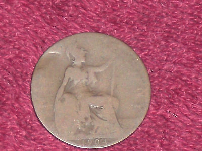 1904 half penny, Edward VII, filler grade.