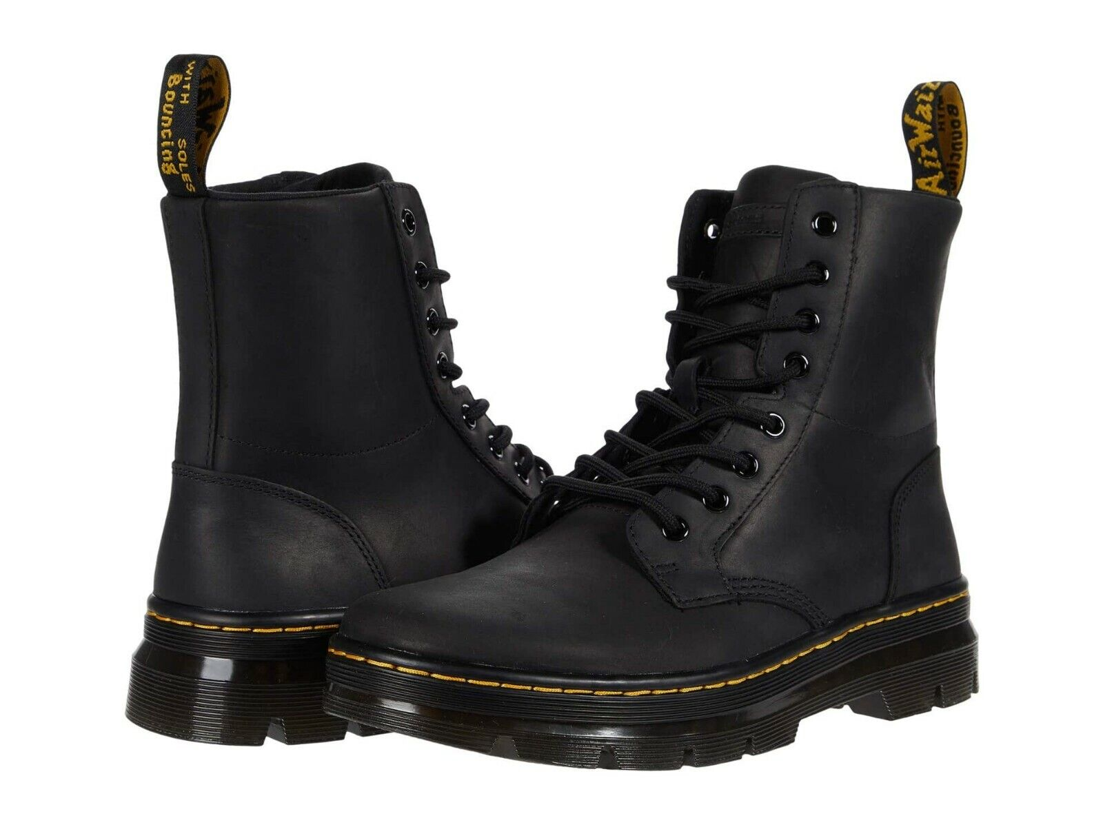 Dr.Martens Whiton 8 Eyelet Softy Treviews Black Womens Boots