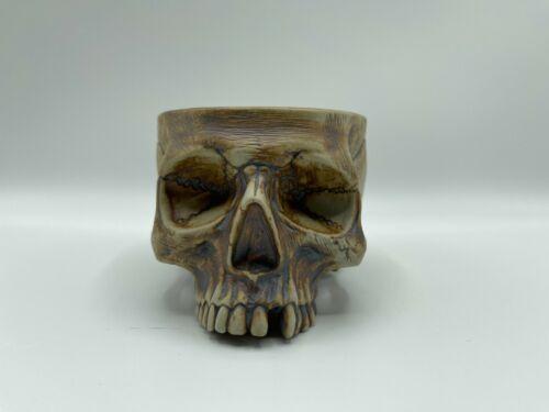 Strong Water Red Iron Oxide Asmat Cannibal Skull Tiki mug