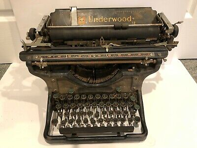 Underwood Typewriter Antique + Vintage + - Not sure if it works. Sold As Is