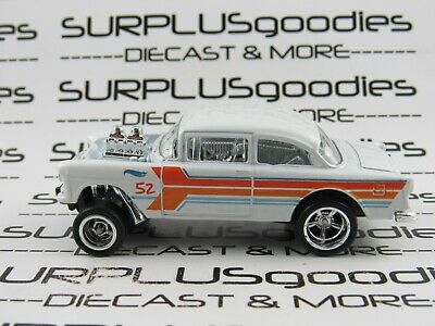 Hot Wheels LOOSE 1955 '55 CHEVROLET BEL-AIR GASSER Custom SUPER w/Real Riders #2