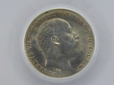 1902 SILVER 3d THREEPENCE UNC, Graded & Encapsulated LCGS 82, MS64-65 (ESC 2114)