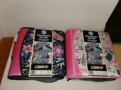 2 Case It The Mighty Zip Tab 2.0 Binder 3 Inch Capacity Organizer Shoulder Strap