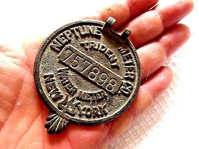 Vintage Metal Water Meter Cap New York Neptune Meter Co.