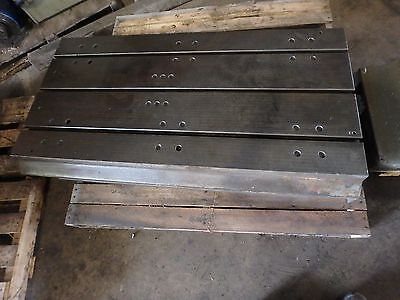 53-78 X 26 Steel Welding 3 T-slotted Table Cast Iron Layout Plate Jig