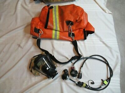 Msa Rescue Air Rit Pack Scba Pak Wbag Firefighter Fire Mask Hoses