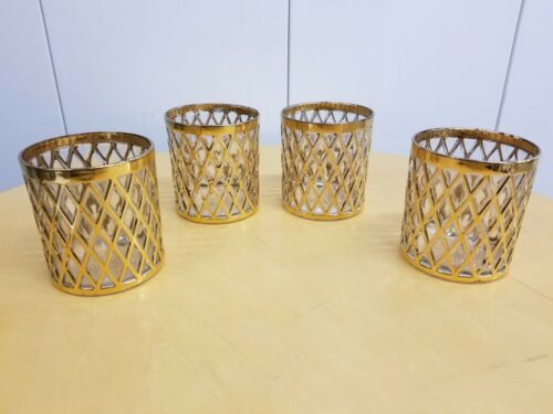 IMPERIAL GLASS SEKAI ICHI ON THE ROCKS BARWARE GLASSES Set/4 RARE,VINTAGE MCM !!