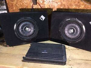 "2 12"" subs with amp"