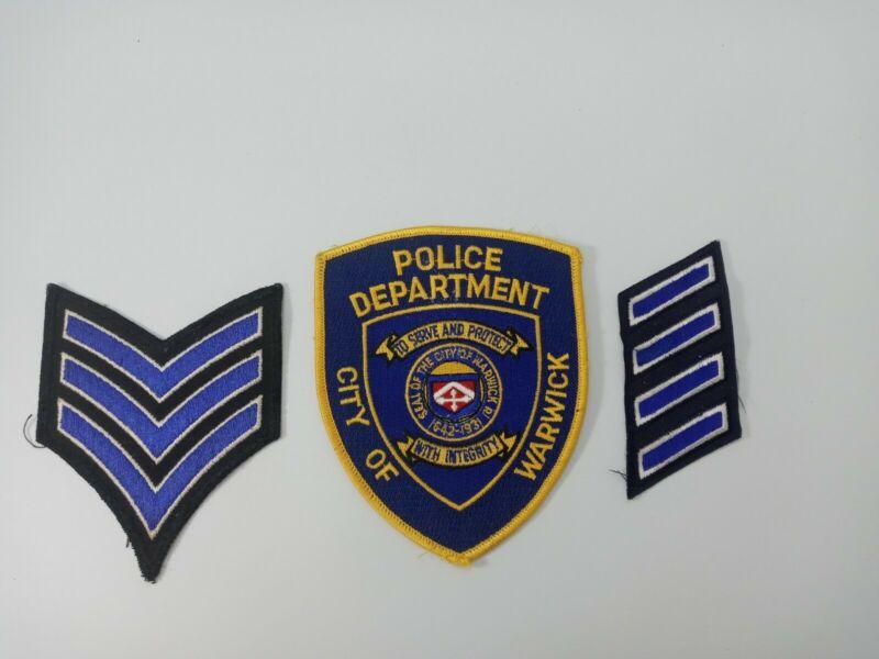 Vintage Warwick Rhode Island Warwick Police Patch Lot