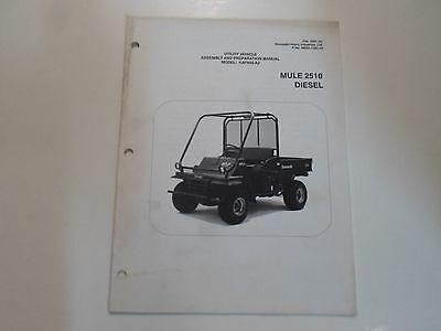 2002 Kawasaki Mule 2510 Diesel Utility Assembly & Preparation Manual STAINED OEM