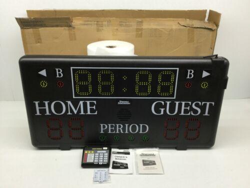 Sportable Scoreboards (2207) Wall-Mount Portable Scoreboard W/ Wireless Control