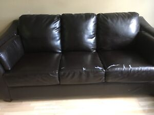 2 Great Comfy leather Couches $200
