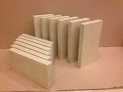 "60 x Vermiculite Stove, Pizza Oven Bricks stove fire brick  4"" x 9"" x 1"" *** for sale  Holywell"