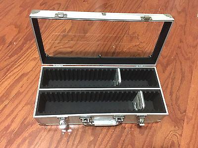 Aluminum Storage Holder (Aluminum Storage & Display Box Case Holds 50 PCGS NGC ANACS Coin Holders Slabs )