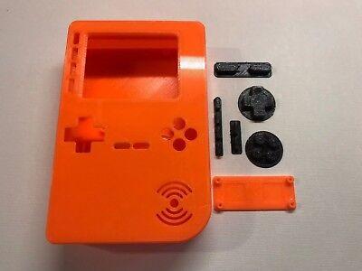 PiGRRL 2 All Orange Game Boy Case & Buttons for Raspberry Pi 2/3. UK. Free Post