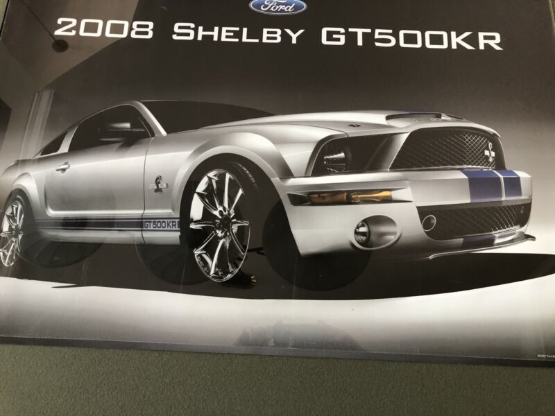 2008 Mustang Shelby Gt500KR POSTER ~ RARE!
