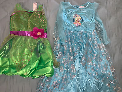 Lot Of 2 Disney Frozen Elsa Nightgown, Tinkle Bell Princess Costume Size 3T