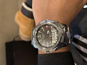 Tissot T touch 2 titanium and carbon fibre smart watch