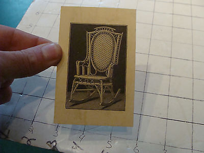 vintage orig. 1800's Wakefield RATTAN co CARD w Chair illustration on back #1