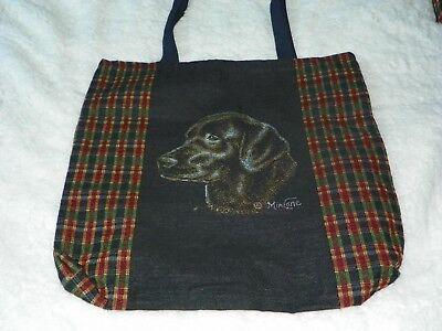 LABRADOR TAPESTRY TOTE BAG W/LINING  -  SCENEWEAVER - NEW - DOG (Dogs Lined Tapestry Tote Bag)