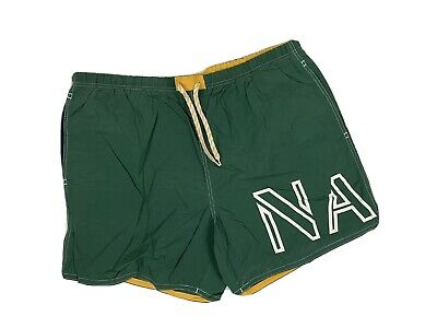 Vtg Nautica XXL Swim Trunks Flags Color Block Mesh Lined 42-44 Waist SOME WEAR