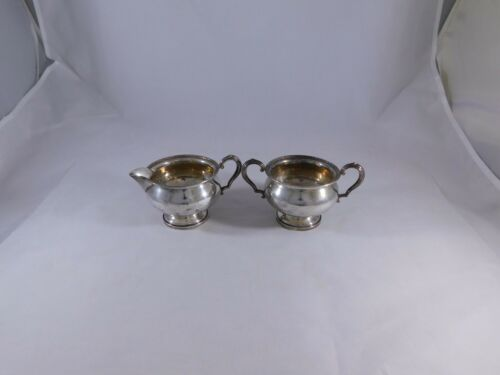 Fisher 706 Sterling Silver Creamer and Sugar Bowl Set
