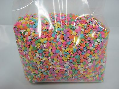 "Edible Confetti 1/8"" Sequins Sprinkles Pastel Colors 12 oz candy cake cookies"