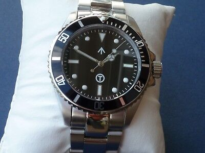 Automatic STERILE Military RAISED dial Submariner 316L stainless DG2813