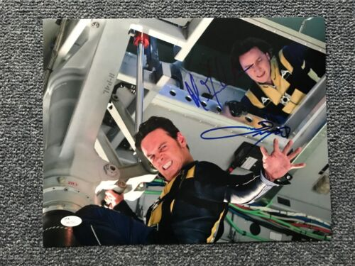 X Men James McAvoy Michael Fassbender Autographed Signed 11x14 Photo JSA COA
