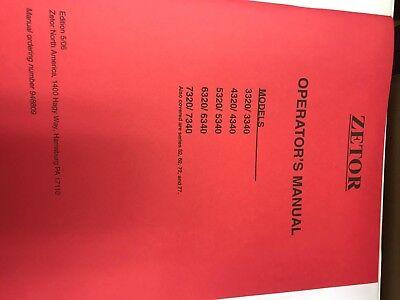 Zetor Owners Operators Manual 3320-7340 948809