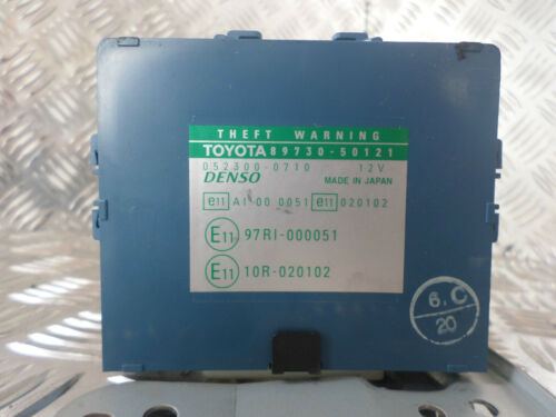 2002 LEXUS LS430 THEFT WARNING CONTROL UNIT 89730-50121 & 052300-0710 12V DENSO