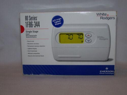 Emerson 1F86-344 80 Series Digital Thermostat Single Stage Hardwired NIB