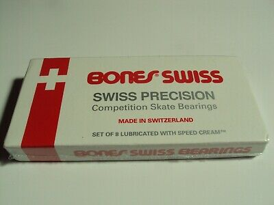 Bones Swiss Skateboard Bearings 8-Pack